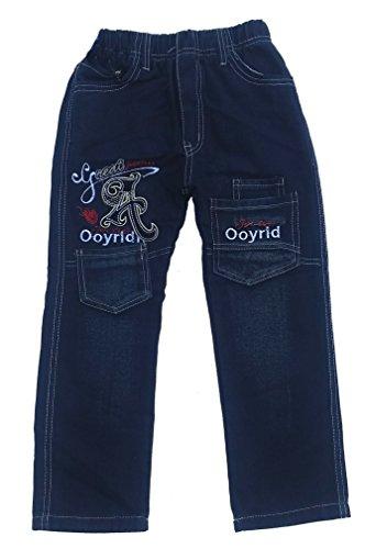 Bequeme Jungen Jeans mit rundum Gummizug, in Blau, Gr. 92/98, J18.2e