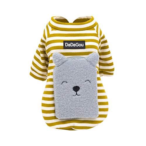 Laile Hundepullover Warming Sweater Puppy Coat Herbst und Winter Hundekleidung Netter Schoßhund Kostüm Hündchen Kleidung Weiches Kostüm Warm Sweatshirts Hündchen Mantel Bekleidung