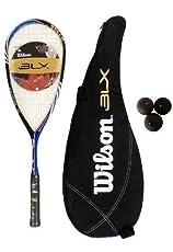 Wilson one45 BLX Raquetas Squash + 3 Pelotas de squash - Marco Peso - 145g - SALDO - 36.5cm - Patron de Cuerda - 12 x 18 - Tamaño de Cabeza 498 cm2
