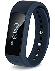 Bracelet Smart, huiheng i5Plus sans fil Bracelet Podomètre IP65étanche Sport Bracelet Smart Montre bracelet podomètre sommeil Santé Fitness Tracker d'activité Bracelet pour Android et iOS, bleu