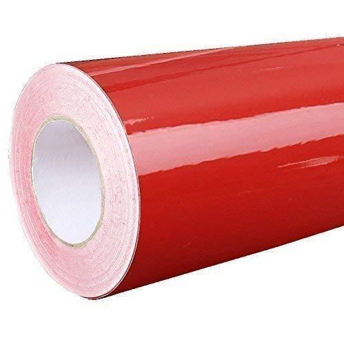 4,43€/m²  Rapid Teck® Glanz Folie - Dunkel Rot Glanz Klebefolie - 5m x 63cm - Plotterfolie- Folie selbstklebend - auch als Moebelfolie - Klebefolie