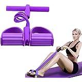 Outtybrave multifunktionell 4-rör-badkropp, Sit-Ups-fitness-expanderare, elastisk draglina, träningsrep, lår/muskel-/magstyrk