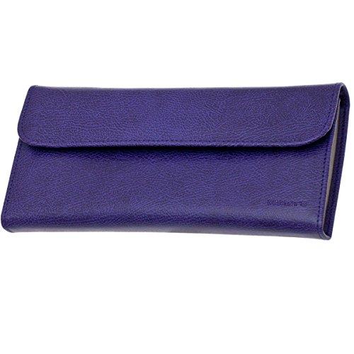 Trousse à Bijoux Plate DAVIDT'S Euclide - Violet