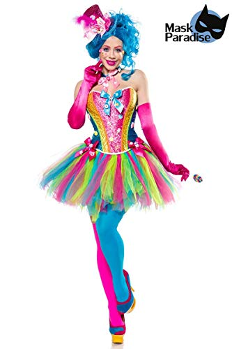 Generique - Candy Clown-Kostüm für Damen Bonbons bunt L (Tutu, Clown Kostüm)