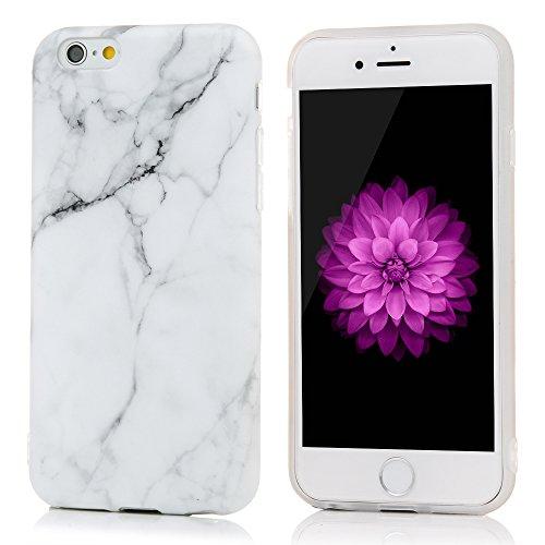 "YOKIRIN Silikonhülle für iPhone 6 Plus/6S Plus (5.5"") Premium Marmor TPU Silikon Case Cover Handyhülle Handytasche Etui Handycase Flexible Transparent Rahmen Rutschfest Kratzfest Schutzhülle Gray Weiß Gray Weiß"