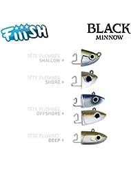 FIIISH - Têtes Black Minnow Kaki - Off Shore (x2) - 6g