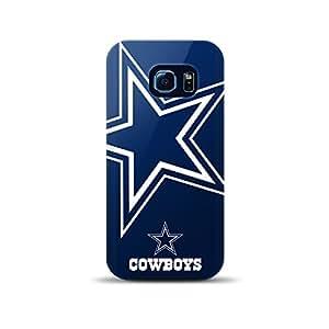 Coque Galaxy S6Edge, [sous licence NFL Dallas Cowboys] Coque de protection en silicone TPU pour Samsung Galaxy S6Edge