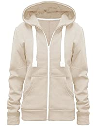 dc07365d1a6d2 Vanilla Inc© New Plus Size Hoodie Ladies Womens Zip Zipper Hooded Jacket  Coat Top Hoody 8-28
