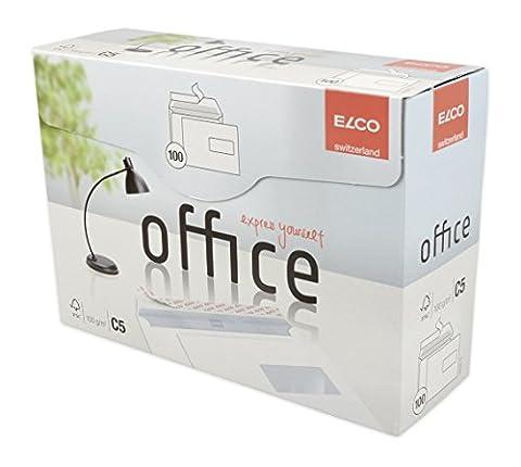 Elco 74536-12 Boite de 100 enveloppes avec fenêtre Format C5