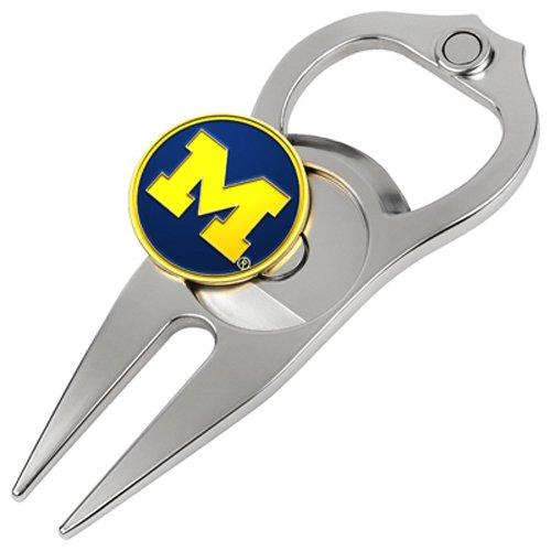 Michigan Wolverines Divot Tool (Hat Trick Openers 5-in-1 Divot Tool, Michigan Wolverines by Hat Trick Openers)