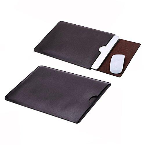 Delmkin MacBook Air Hülle PU-Leder MacBook Air & Macbook Pro Schutzhülle 13 Zoll (Schokolade) (Leder Tasche Schokolade)