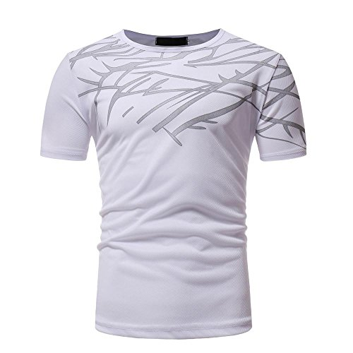 Sommer Tops Casual Printing Herren Kurzarm T-shirt Bluse ()