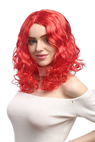XR-010-P88 Peluca Carnaval se/ñoras Largos rizos voluminosos Rizado Partida Media WIG ME UP /® Rubio 50 cm