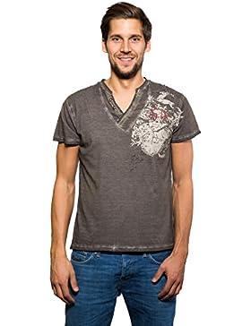 Krüger - Herren Trachten T-Shirt, Hirschsprung (Artikelnummer: 93210-7)