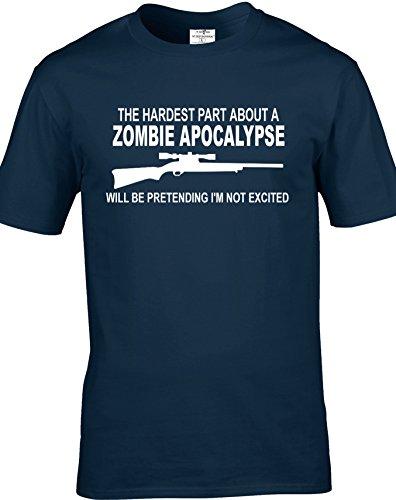 The walking dead inspired parte di più, apocalisse degli Zombie per adulti, unisex, T-Shirts. consegna gratuita inclusi. Blu navy