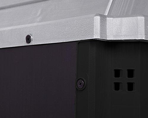 Keter Woodland 30 Mülltonnenbox anthrazit Gartenbox Midi Gerätebox abschließbar für 2 Mülltonnen - 9