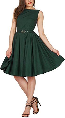 Black Butterfly 'Audrey' Vintage Clarity Kleid im 50er-Jahre-Stil (Dunkelgrün, EUR 38 – S) - 4