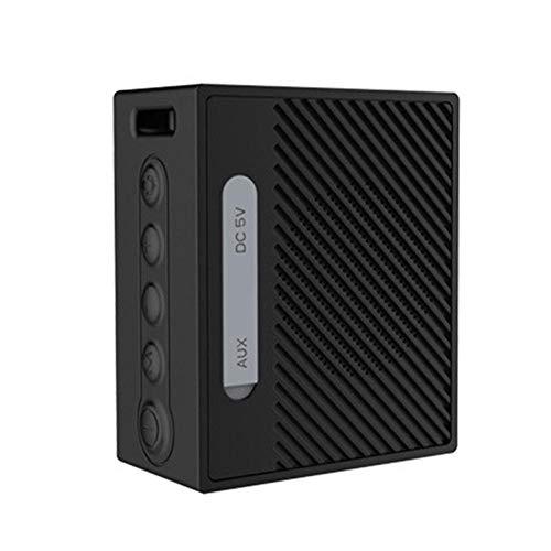 qiyan , Haut-Parleur sans Fil Bluetooth Subwoofer Haut-Parleur WiFi Sport Étanche avec Invite vocale Invite étanche à la poussière Appel Carte SD Portable de Bureau Haut-parleurs Portables Noir