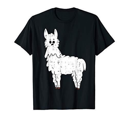 Geist Maske Blauen Kostüm - Lama Geist Maske Kostüm Witzigeses Tier-Halloween-Geschenk T-Shirt