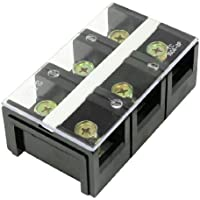 DealMux 150V 100A 3 Posición de fila doble barrera de bloque de terminales de tornillo de Gaza