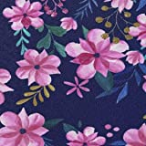 MoKo Case Fits All-New Kindle 10th Generation 2019 Release, Thinnest Protective Shell Cover with Auto Wake/Sleep, Not Fits Kindle Paperwhite 10th Generation 2018 - Blue & Pink Flower