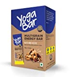 Yogabar Multigrain Energy Bars - 380gm (Nuts and Seeds, Pack of 10, 38gm x 10 Bars)