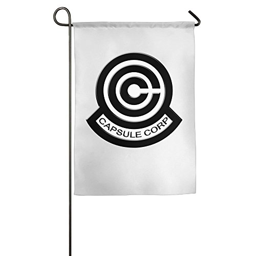 (Dragon Ball Z Capsule Corp Logo Fashion Garten Flaggen Hof Flagge Outdoor Flaggen, weiß)