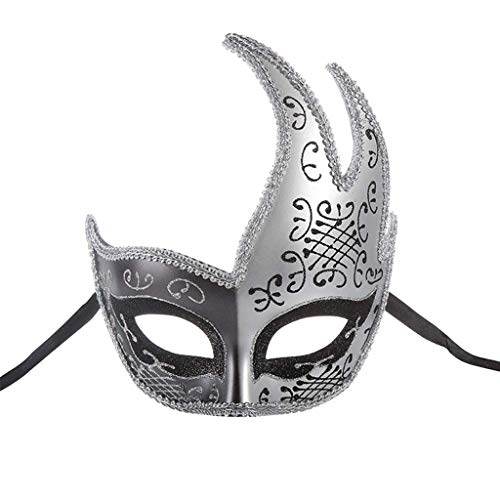 Damen Kreative Kostüm - Party Maske Party Maske Halloween Halbes Gesicht Damen Kostüm Party Kunststoff Karneval Kreative Maske Bar Nachtclub Prinzessin Maske The taste of home (Color : Black)