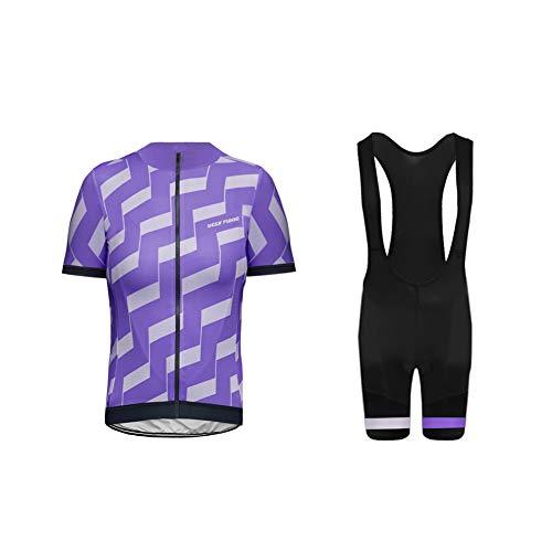 Uglyfrog Bike-T Full Zip MTB Bici Rennrad Radsport Trikots Herren Radtrikot Set Fahrrad Kurzarm Suit Schnelltrocknend Atmungsaktives Shirt + 3D Cushion Shorts Gepolsterte Hose -