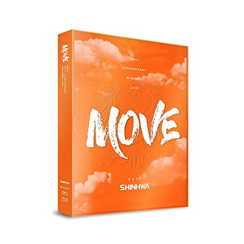 "SHINHWA 19TH Anniversary Summer Live ""Move"" Blu-Ray 2Disc+Booklet+6Photocards+Lenticular Card"