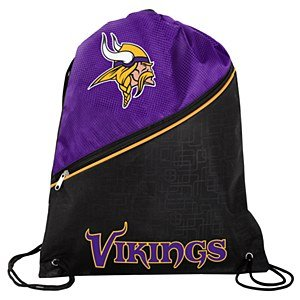 Forever Collectibles Minnesota Vikings High End diagonal Reißverschluss Kordelzug Rucksack Gym Bag -
