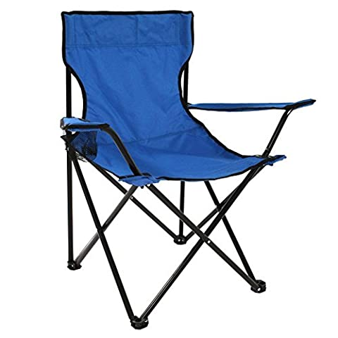 Portable Folding Beach Camp Chair with Carry Bag for Camping Blue