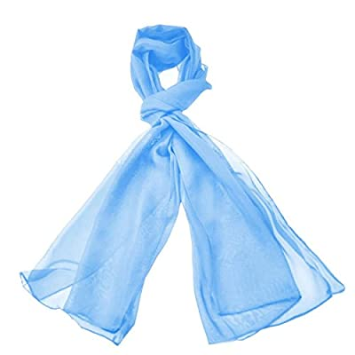Classic Plain Solid Chiffon Scarf Light Weight & SOFT See-Through Semi Opaque Fabric 47 x 160cm (18.5 x 62 inch) - Luxurious Touch To Any Outfit All Year Around Sheer Scarves : everything 5 pounds (or less!)