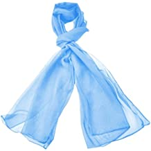 cec9977701e1 Classique Uni en mousseline de soie Écharpe Poids léger et doux Transparent  Semi opaque Tissu 47