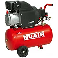 Nuair M255380 - Compresor de piston con aceite rc2-2hp rl 24 cm red