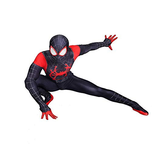 Spiderman Schwarz Kostüm Classic Halloween Kostüm Party Spiderman Body (Erwachsenes Kind),Child-L (Kostüm Spiderman Schwarzes Erwachsene)