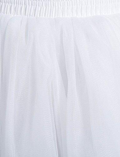 Sarahbridal Damen Rock Weiß