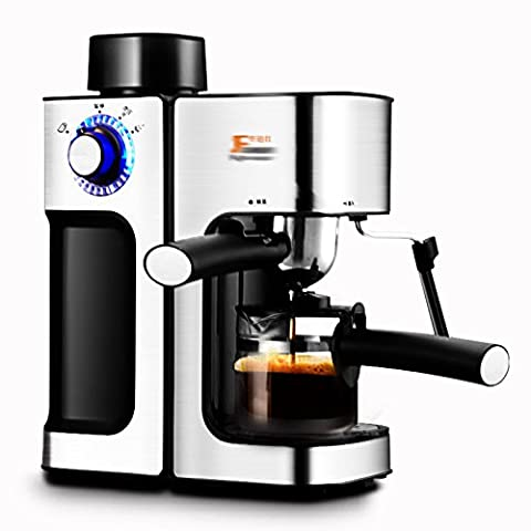 GCCI Italian Coffee Machine Home Commercial Semi-automatic Steam-type Playing Milk Bubble,Black