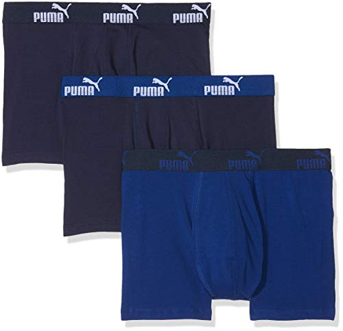 PUMA Promo Lot de 3 Boxer Culotte, Azul (Blue), Medium (Pack de 3 para Hombre