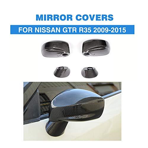 ZHAOHAOSC , Für ersetzte Art-Carbonfaser-hintere Ansicht-Seitenspiegel-Kappen-Abdeckungs-Ordnung, für Nissan GT-R GTR R35 2009-2015 4PCS / Set -