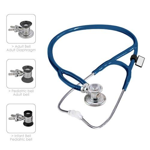 MDF® Sprague-X überarbeitetes Sprague Rappaport Stethoskop mit austauschbarem Bruststück für Erwachsene, Kinderärzte und Säuglinge - Königsblau (MDF767X-10)