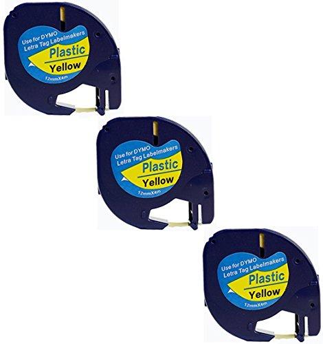 3x-compatible-dymo-letratag-91202-noir-sur-jaune-12mm-x-4m-rubans-etiquettes-plastique-pour-etiquete