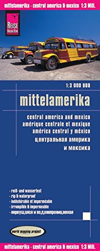 Reise Know-How Landkarte Mittelamerika (1:3.000.000): world mapping project