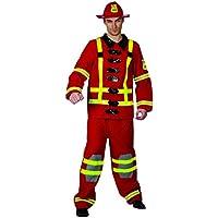 Ridere e coriandoli - Ficoll 009 - Per Costume adulto - Costume pompiere Red Deluxe - Uomo - Taglia Xl