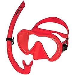 Beuchat Maxlux S Masque de plongée avec Tuba Spy, Rouge