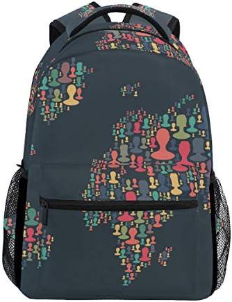 Ahomy, Sac à Dos Dos Dos   Mixte   Multicolore Multicolore 16 x 11.5 x 8 in B07JZ28RSD | Choix Des Matériaux  54b19f