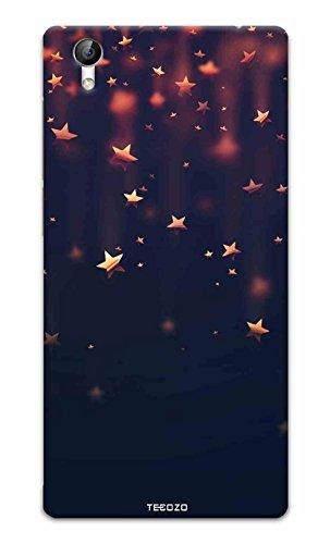 Tecozo Designer Printed Back Cover/Hard Case for Vivo Y51L (Stars Design/Patterns) - Black
