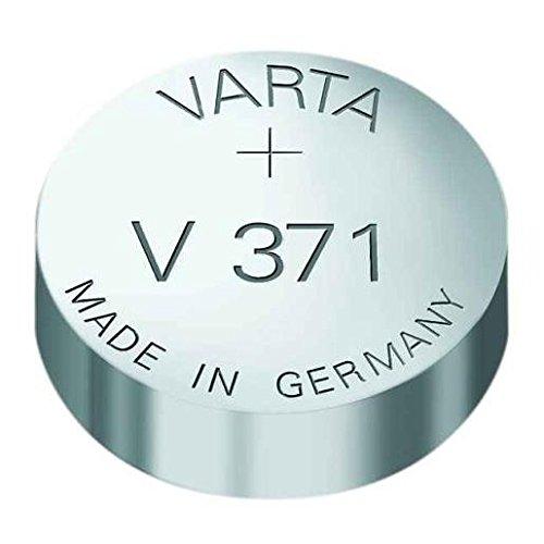 VARTA Lot de 2 piles oxyde argent pour montres, V371 (SR69) SR920SW 1,55 Volt