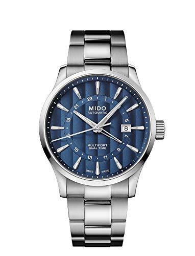 Mido Multifort Dual Time Herren-Armbanduhr 42mm Automatik M038.429.11.041.00