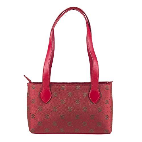 luigi324 - 81429, Borsa a spalla Donna Rosso (rosso)